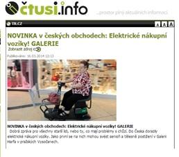 Čtu si - Novinka v českých obchodech - elektrické nákupní košíky