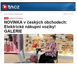 novinka v českých obchodech elektrické nákupní košíky